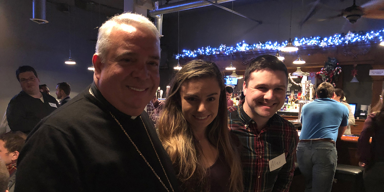 The Culture Project missionaries address peers at Theology on Tap West