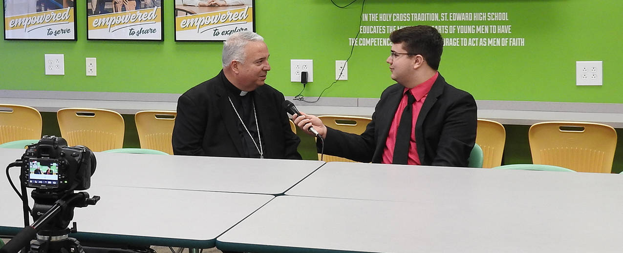 St  Edward High School rolls out welcome mat for Bishop Perez