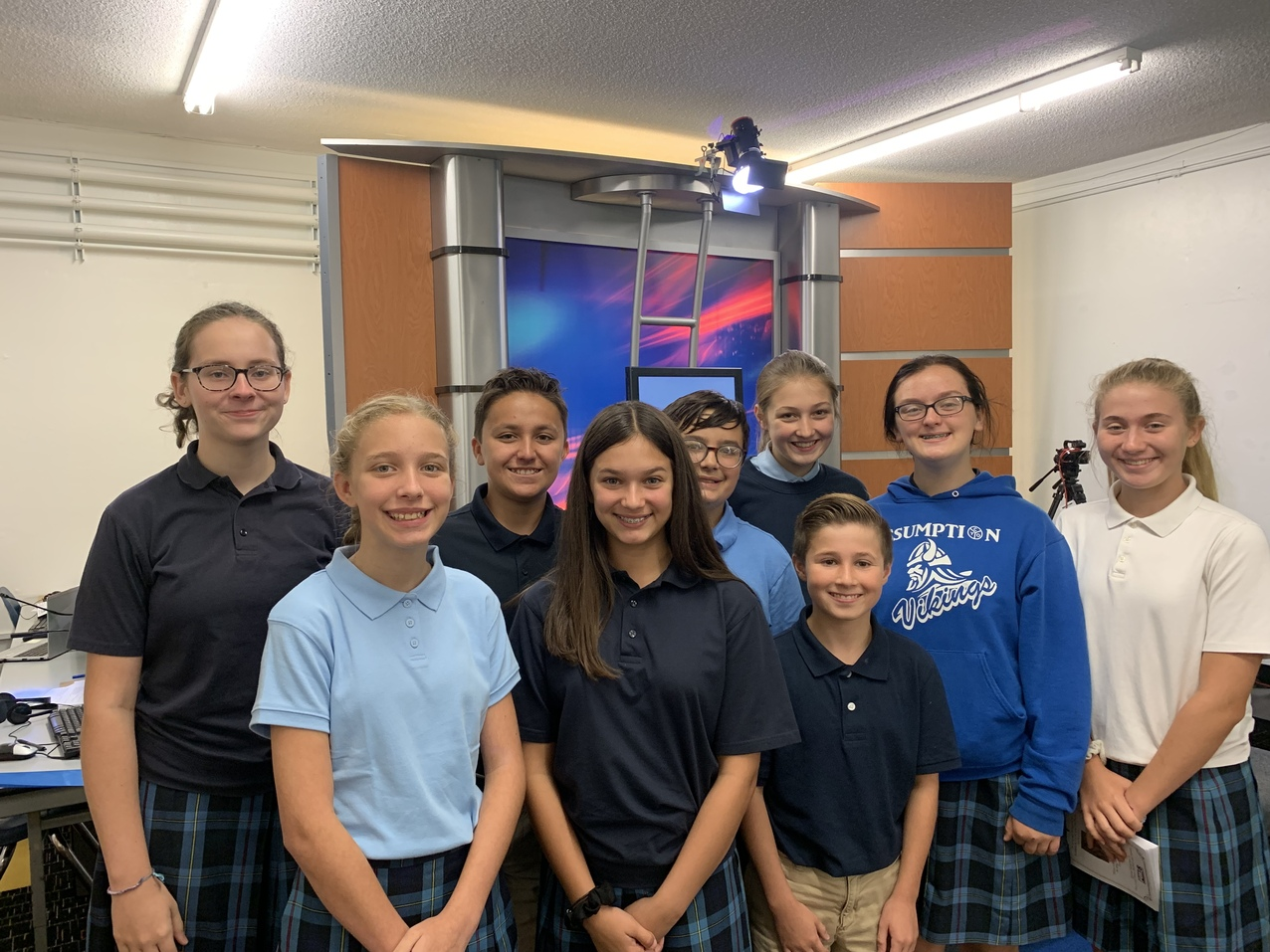 Viking AM crew takes the airwaves at St. Albert the Great at Assumption Academy