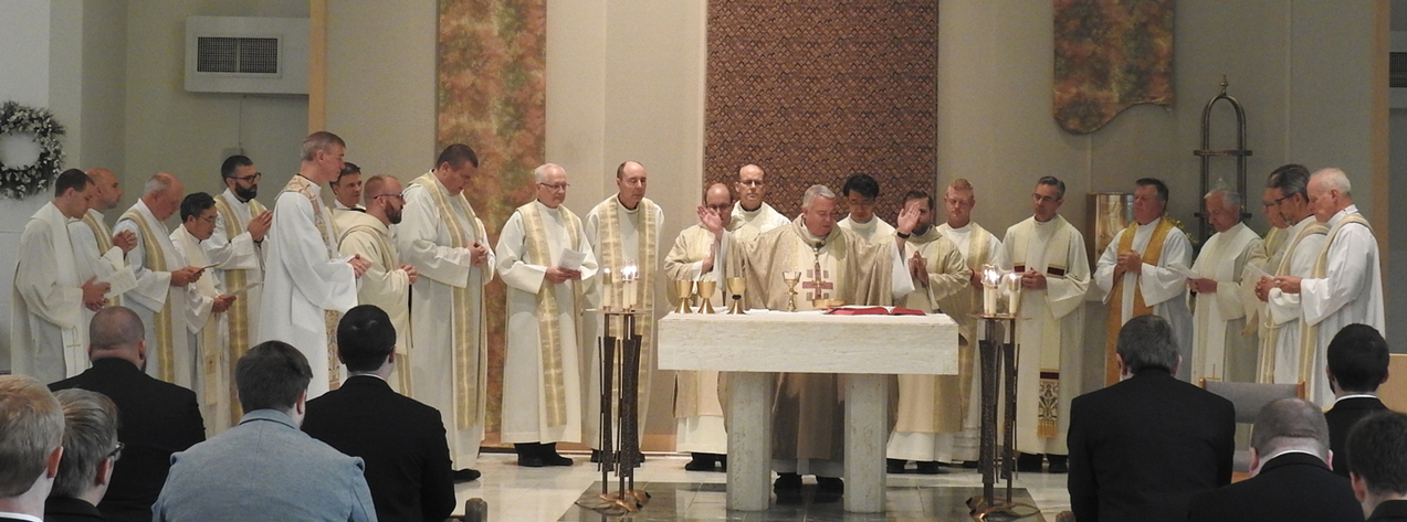 Saint Mary seminarians admitted to candidacy for ordination as deacons, priests