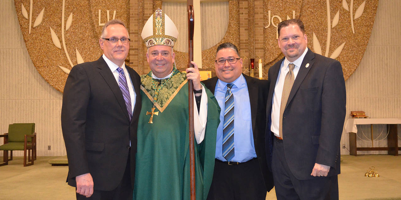 Three permanent diaconate candidates installed to ministry of acolyte