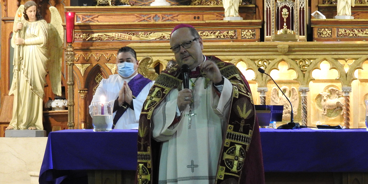 St. Michael the Archangel Parish welcomes bishop for Stations of the Cross