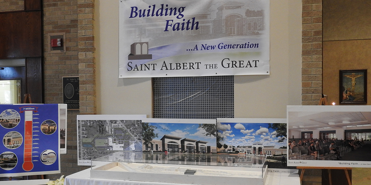 Bishop Perez 'parachutes in' for St. Albert the Great's 60th anniversary