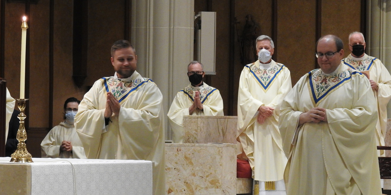Newly ordained Father Josh Cochrac, Father Joe Robinson join ranks of diocesan priests
