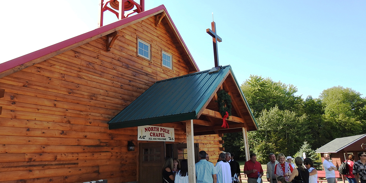 North Pole Chapel at Santa's Hide-A-Way Hollow is a labor of love, a place of hope