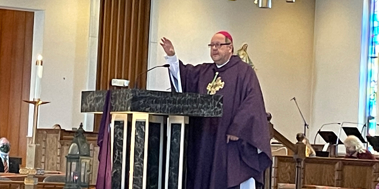 St. Monica Parish welcomes bishop for Sunday Mass