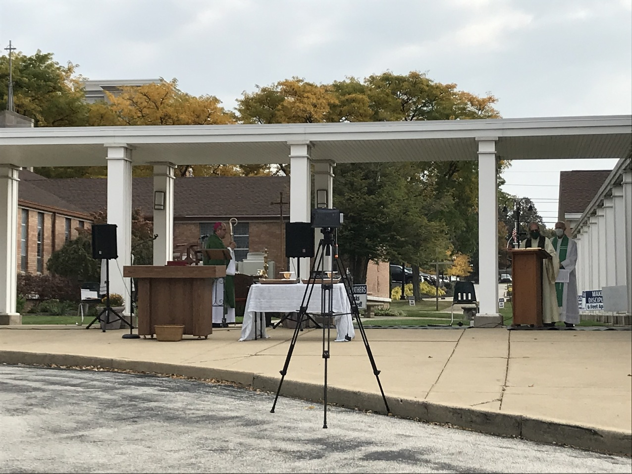 Surprise! Bishop Malesic celebrates outdoor Mass at Our Lady of Victory Parish