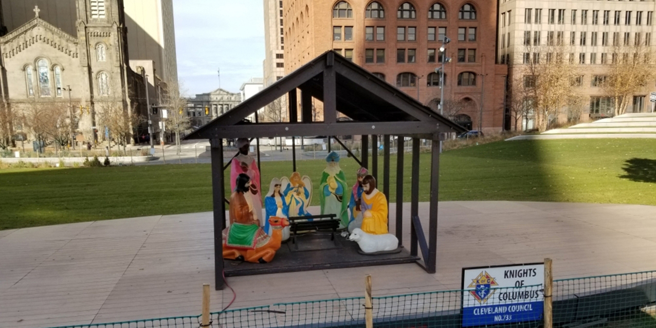 Cleveland's Public Square holiday light display includes Nativity scene
