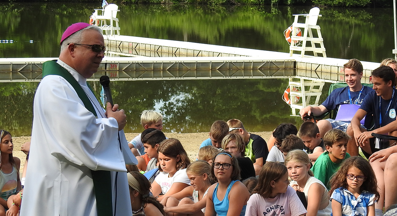 Outdoor 'cathedral' is setting for Camp Christopher Mass