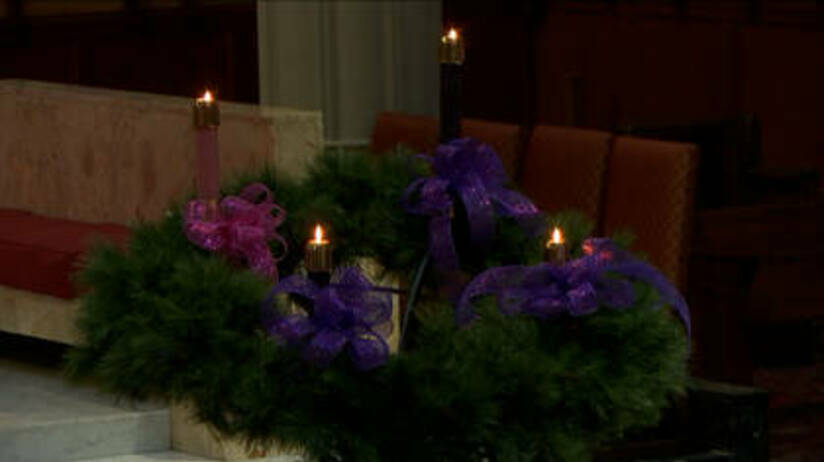 Advent wreath for the fourth week2