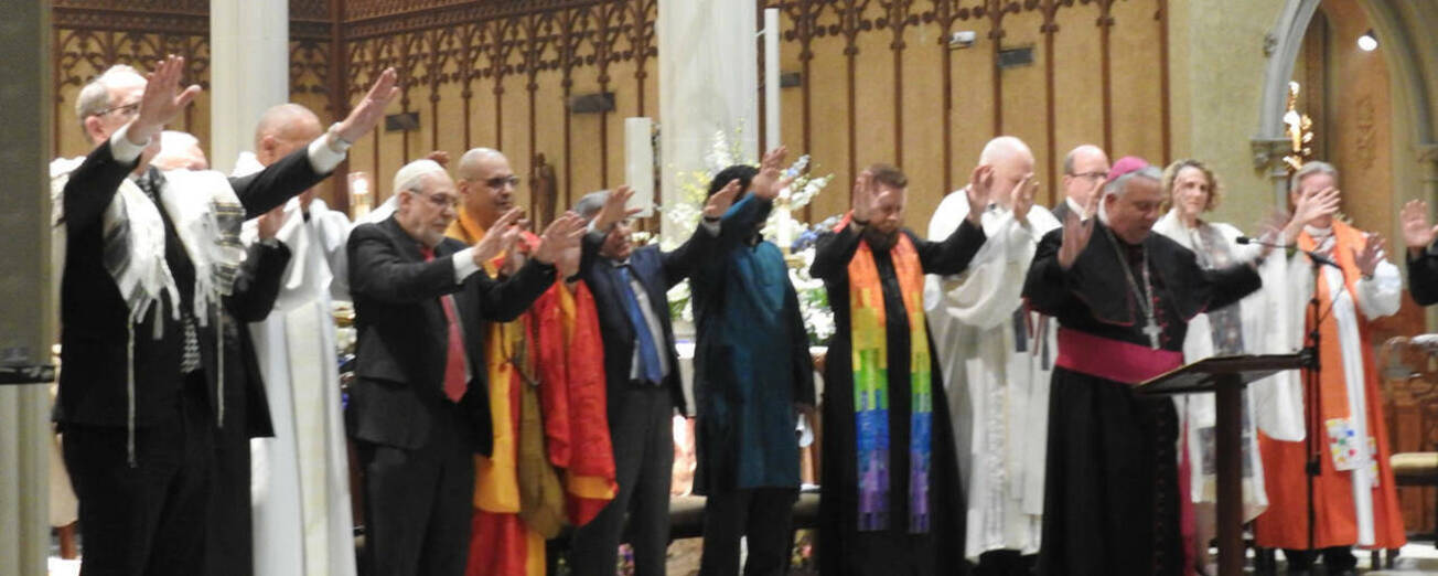 Blessing by faith leaders