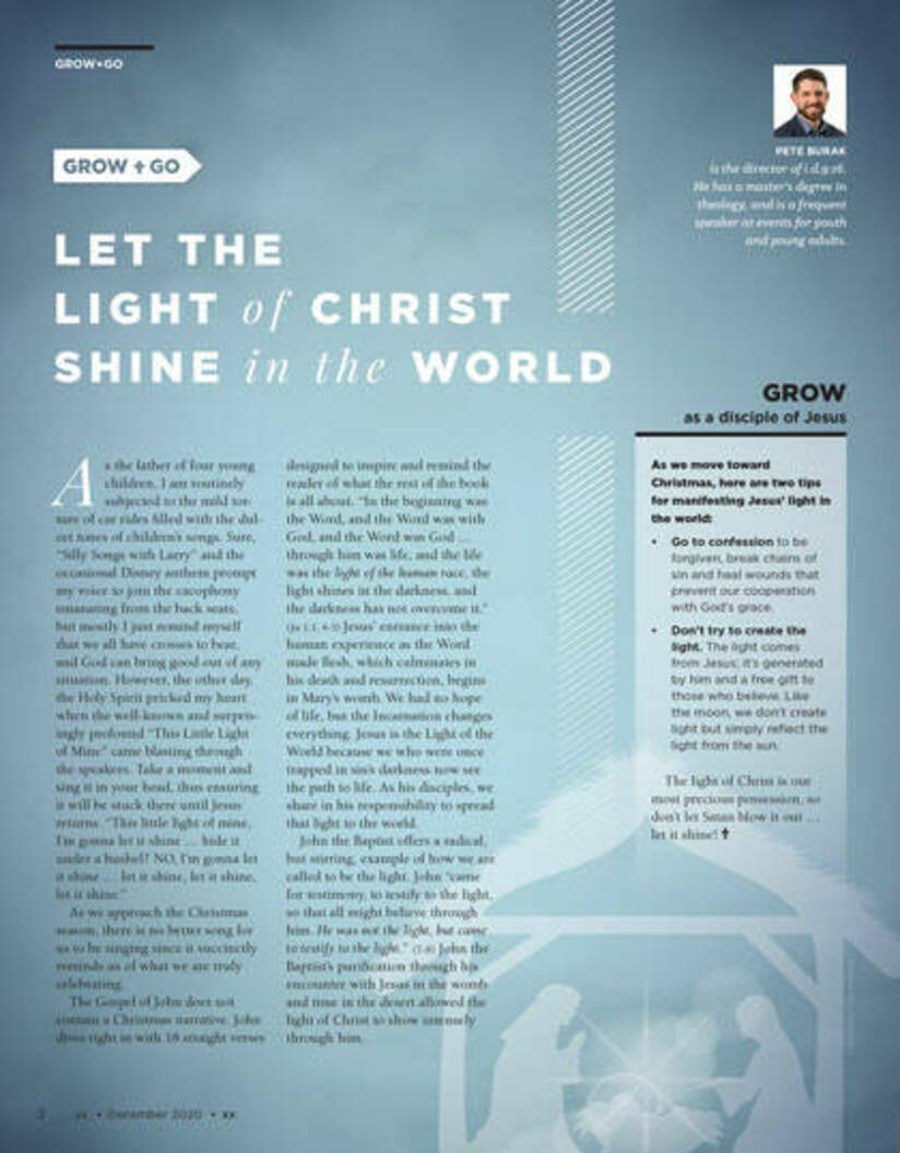 Let the light of christ shine