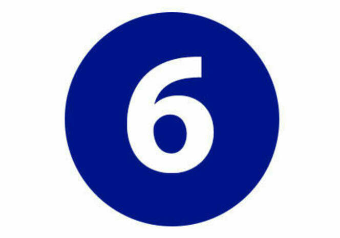 Six in blue circle